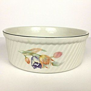 Hall China Tulip French Baker Casserole Dish Bowl